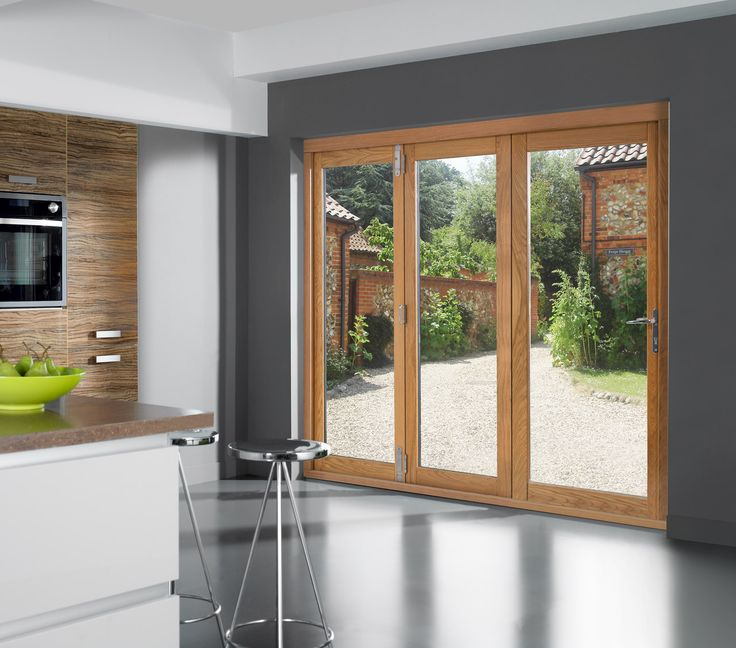 6ft Folding sliding external patio doors