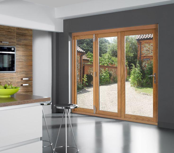6ft Folding sliding external patio doors