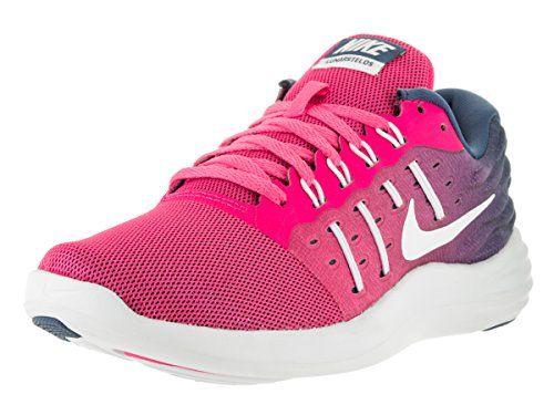 Nike Womens Lunarstelos Pink BlastWhite Ocean Fog Running Shoe 8 Women US *  For more information