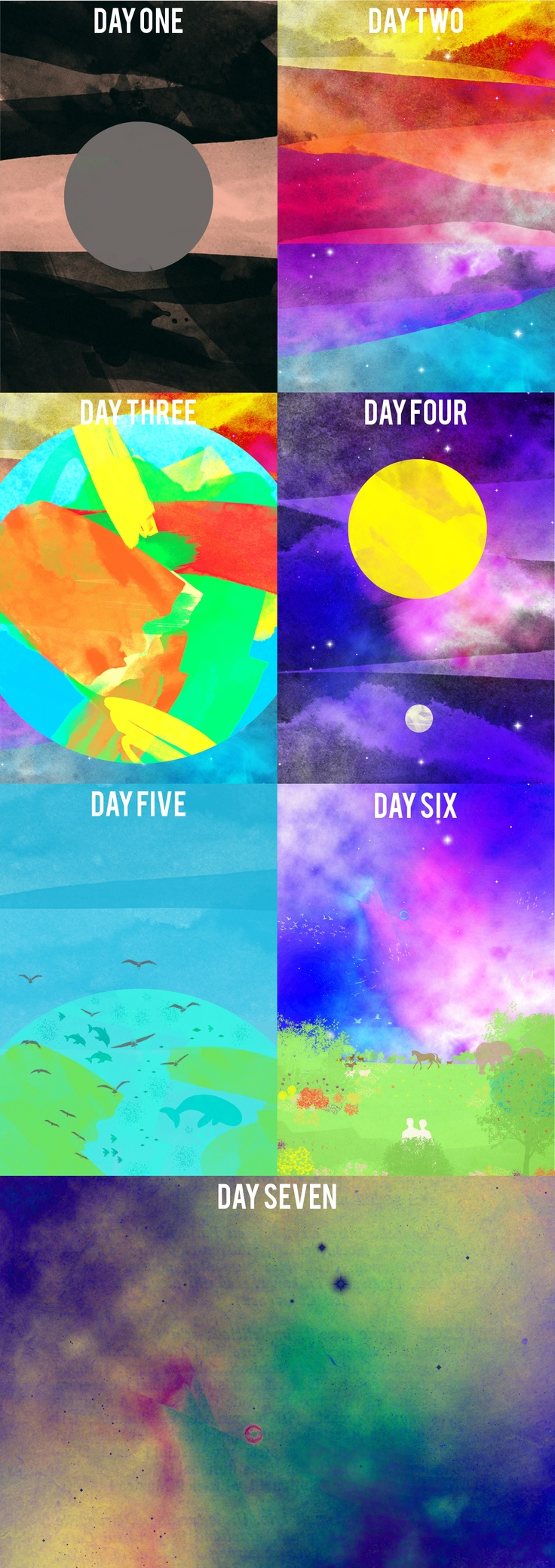 The six days of Creation+ Day 7, a modern art take find them here: http://society6.com/PhoebeRoxx/cases