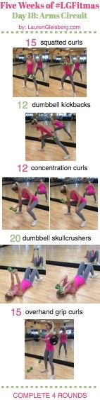 WORKOUT WITH ME WEDNESDAY: Arms Circuit (#LGFitmas Day 18) - 12/10