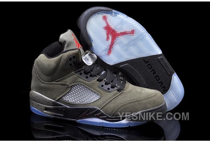 Find Nike Air Jordan 5 Mens Fire Red Medium Olive Black Suede Shoes New  online or in Footlocker. Shop Top Brands and the latest styles Nike Air  Jordan 5 ...