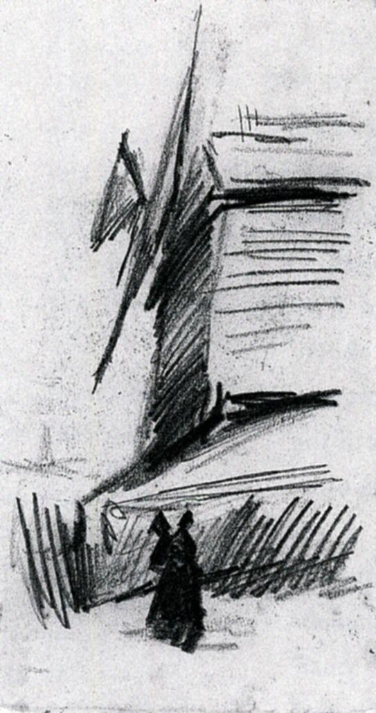 Windmill at Montmartre, 1886. Vincent van Gogh.