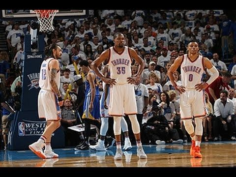 Russell Westbrook & Kevin Durant: mit 63 Punkten die Warriors in Spiel 3 überrannt! – www.bballvideos.de
