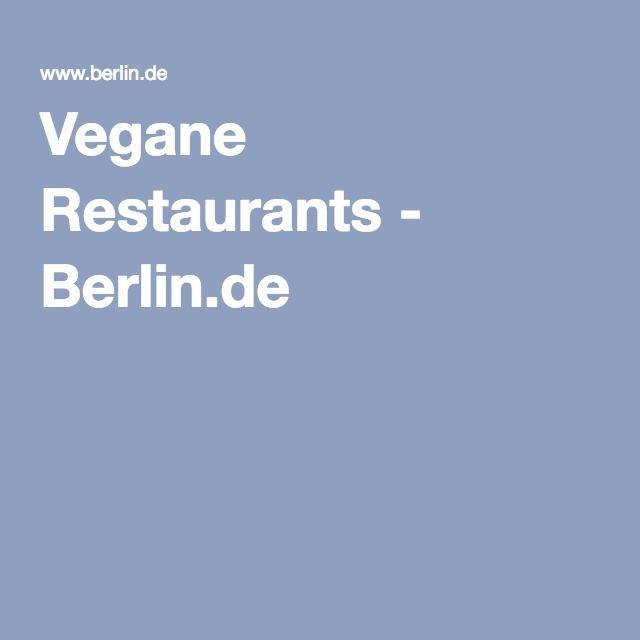 Vegane Restaurants - Berlin.de