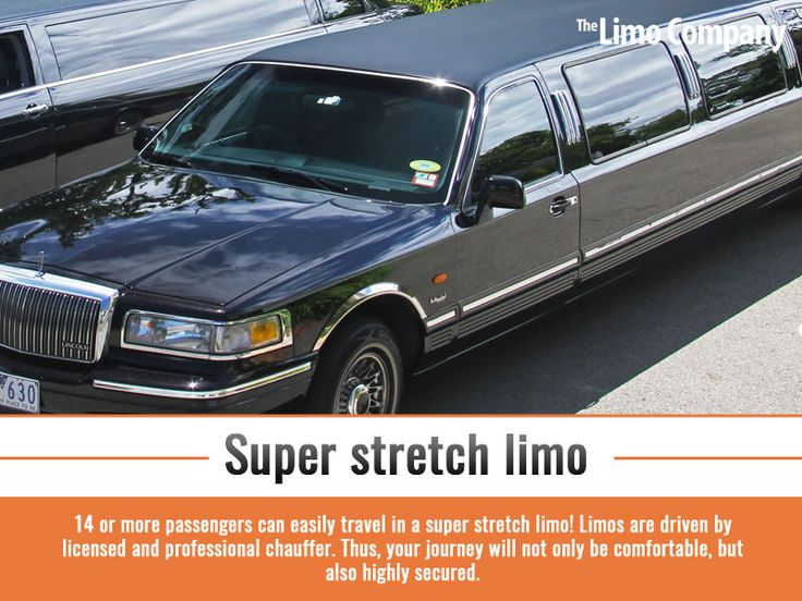 Super stretch limo - 14 or more passengers can easily travel in a super stretch limo! Limos are driven by licensed and professional chauffer. Thus, your journey will not only be comfortable, but also highly secured.