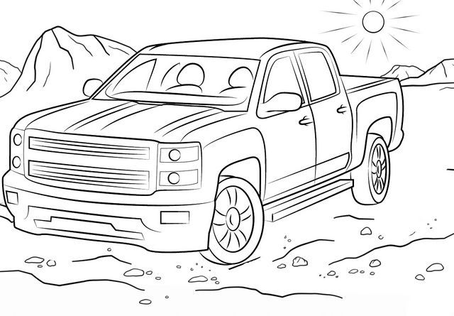 Off Road Chevy Truck Coloring Page Coloring Pages For Boys Truck Coloring Pages Monster Truck Coloring Pages