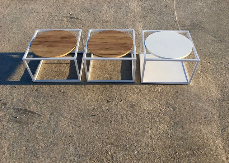Side Tables Metal & Melamine