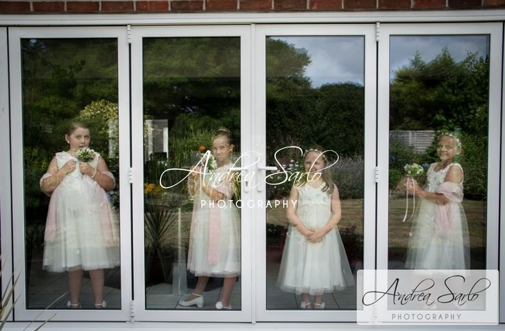 Lovely flower girl looking cute in their little dressed!