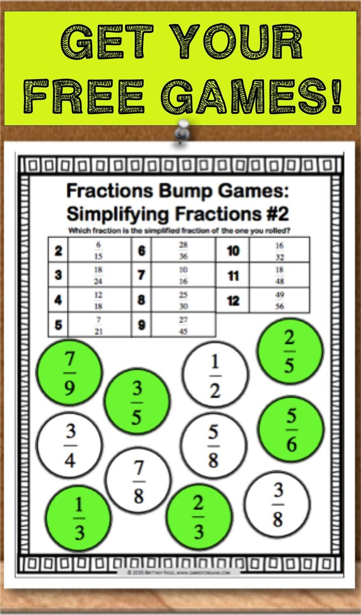 475 Best Images About Fractions On Pinterest