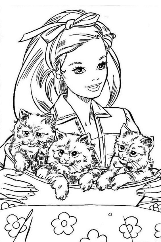 Barbie Coloring Pages Overview With Barbie Coloring Pages Cat Coloring Page Barbie Coloring