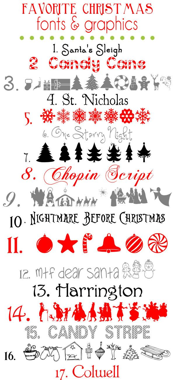 Favorite Free Christmas Fonts and Graphics