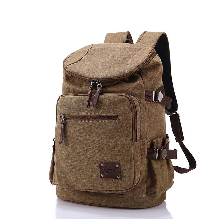 High Quality Men Backpack Zipper Solid Men's Travel Bags Canvas Bag mochila masculina bolsa school bags