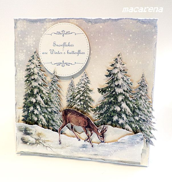 Winter Card using Pion's Glistening Season collection