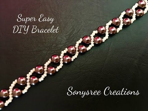 Simple Pearl Bracelet ( Super Easy Beginners Tutorial)  - YouTube