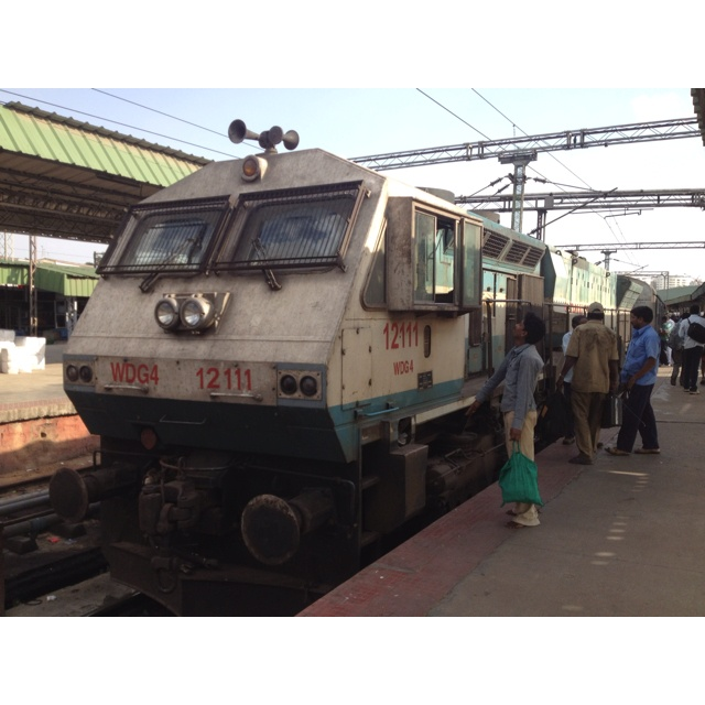 Diesel engine that pulls the Shatabdi express