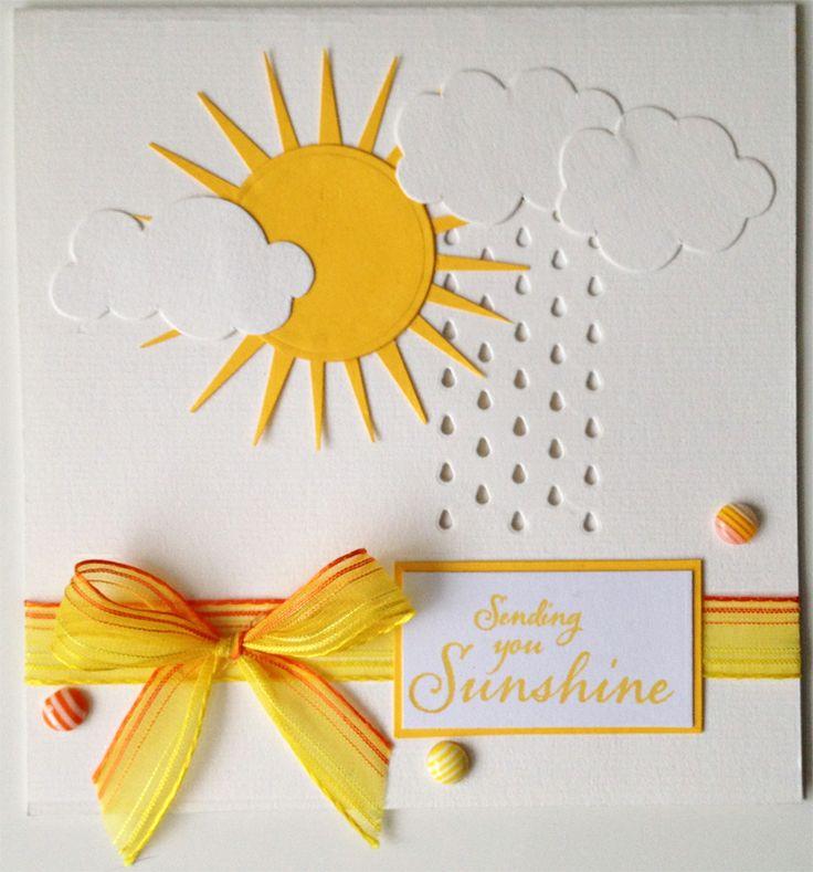 Yellow Ribbon - Sending You Sunshine - Handmade Card