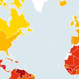 Here's How Bad Corruption Is Around The World. 175 countries were named. Denmark ranks #1 (meaning not corrupt), New Zealand ranks #2, Finland ranks #3, Sweden ranks #4, and Norway ranks #5. They have a mistake - they list #174 twice - North Korea (the upper right side of China) and Somalia (middle of right side of South Africa), so I'm thinking that North Korea may rank the worst at #175.