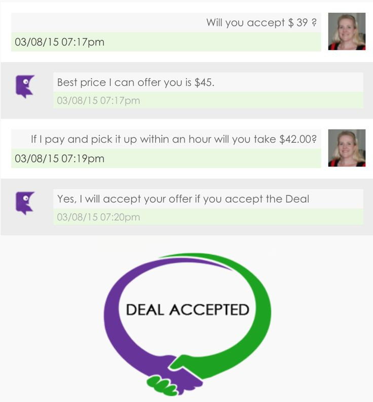 How did your sales go today? Would you like to be able to make a sale this easily? Market and control your specials and make a sale using our LIVE haggling function in seconds!