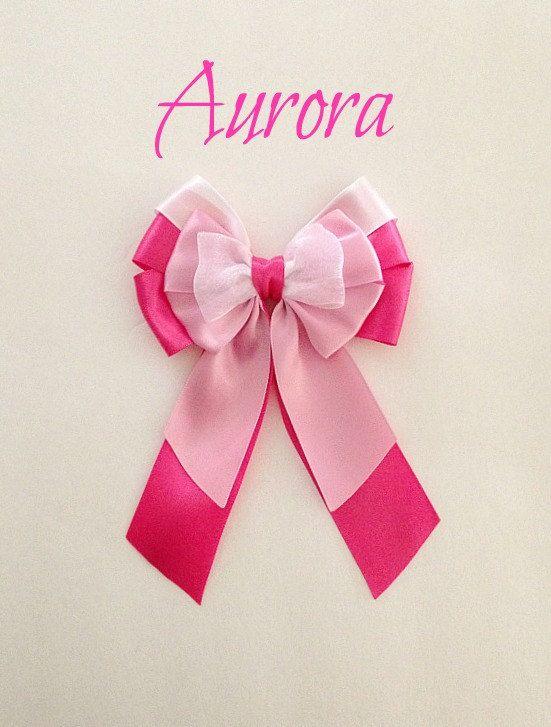 Disney inspired Sleeping Beauty Aurora princess hair bow