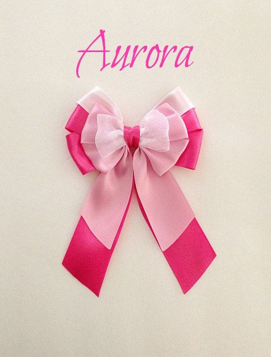 Disney inspired Aurora princess hair bow by BellaRayneDesigns2, $9.50