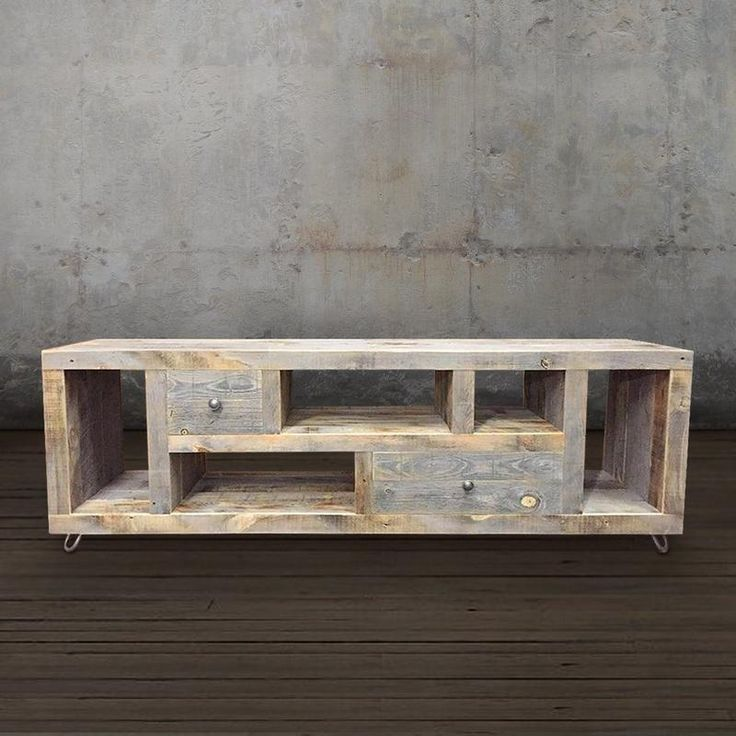 Reclaimed Wood Modern Television Stand, Media Console - Free Shipping - JW Atlas Wood Co.