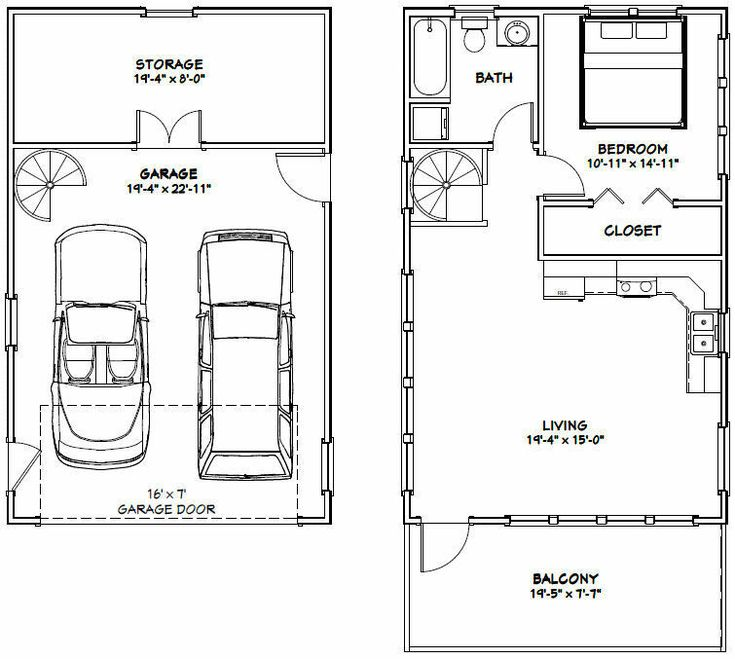 20x32 House -- 1 Bedroom -- 4:12 Roof Pitch -- PDF Floor ...