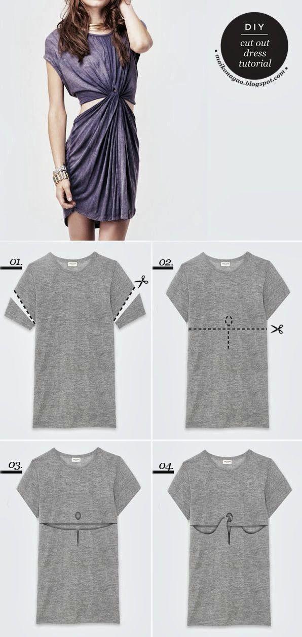 DIY cut out dress tutorial