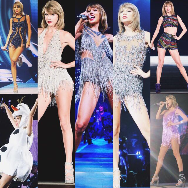 All the 'Style' outfits worn by Taylor so far during the 1989 World Tour.