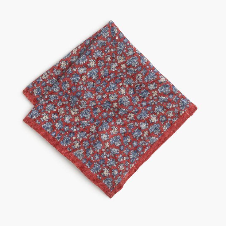 Linen Pocket Square in Floral Print : Men's Pocket Squares | J.Crew
