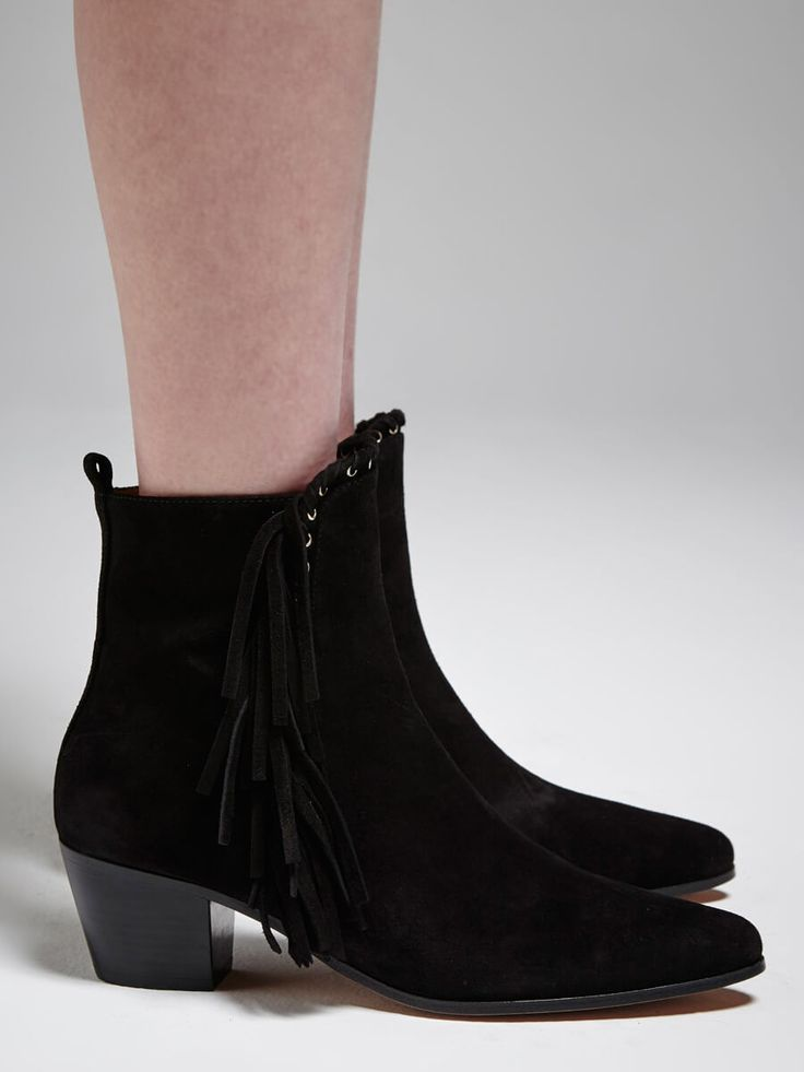 IRO - Nooey Side Fringe Short Boot