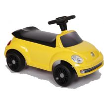 Foot to floor car - yellow vw Beetle