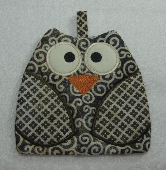 Designer Owl Pot Holder Hot Pad Kitchen