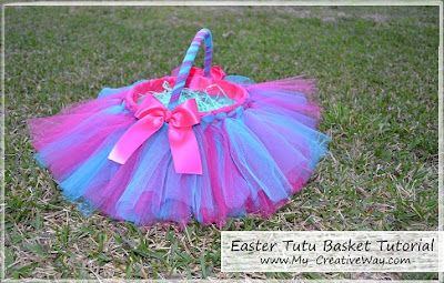 Make an Easter Tutu Basket out of an old ice cream bucket.