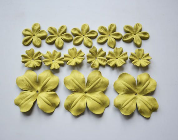 leather flower set of 14 pcs