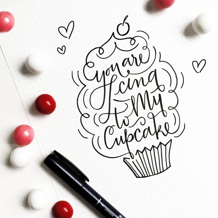Handlettering by @asyeraguempel for the Tombow blog