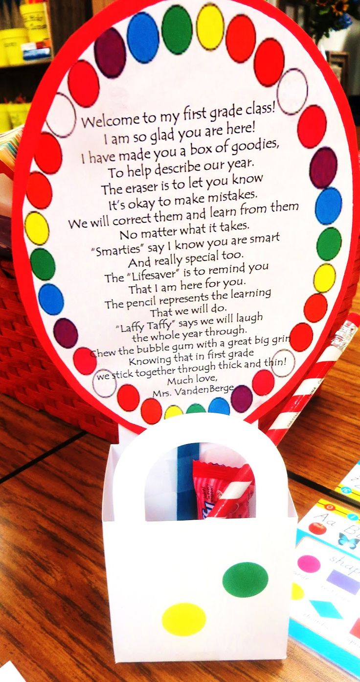 back to school card/gift for kids. Great idea for the meet and greet at the beginning of the year, or to have waiting on their desks on the first day of school.