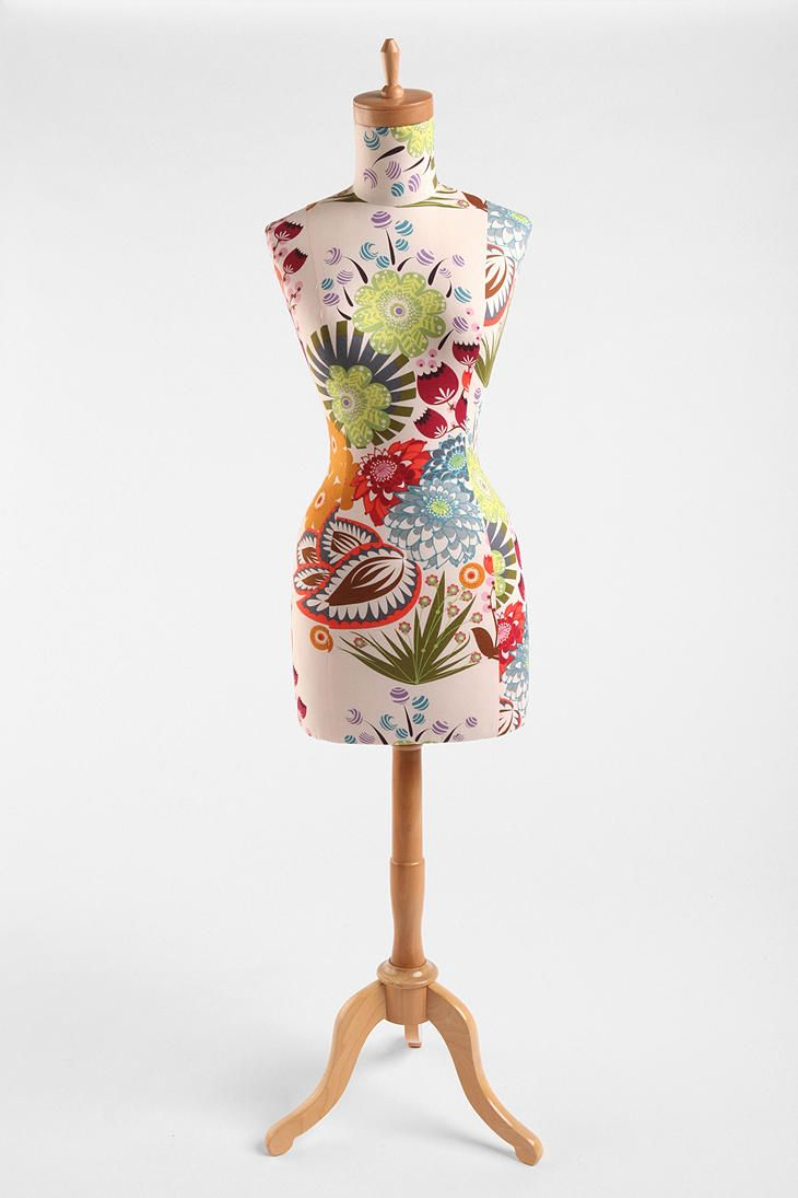 Floral dress form.