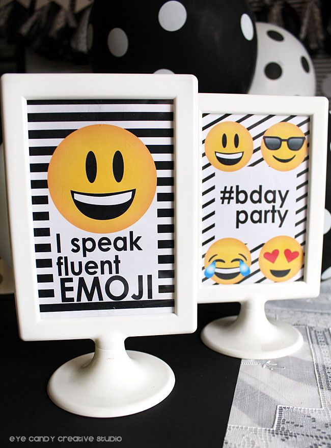party collection - emoji birthday on eye candy creative studio