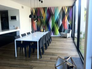 Bold & Colourful Feature Wall