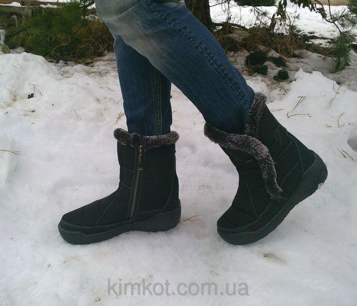 Женские зимние сапоги дутики на меху 36 -42 р-р, фото 1
