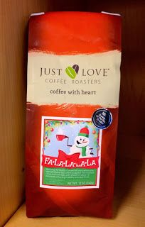 Three lucky winners will receive one bag Just Love Coffee's Fa-La-La-La-La blend just in time for the holidays. Enter to win at twocatsandacradle.blogspot.com/2013/12/just-love-coffee-giveaway.html! Contest ends on 12/17/13. #justlovecoffee