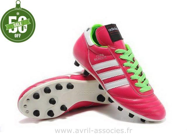 super popular 84643 502cb Boutique 2014 Coupe du monde Chaussures de foot adidas Copa Mundial FG  Mauve Blanc Vert (Nouvelle Adidas Fo…   Pinterest   Father