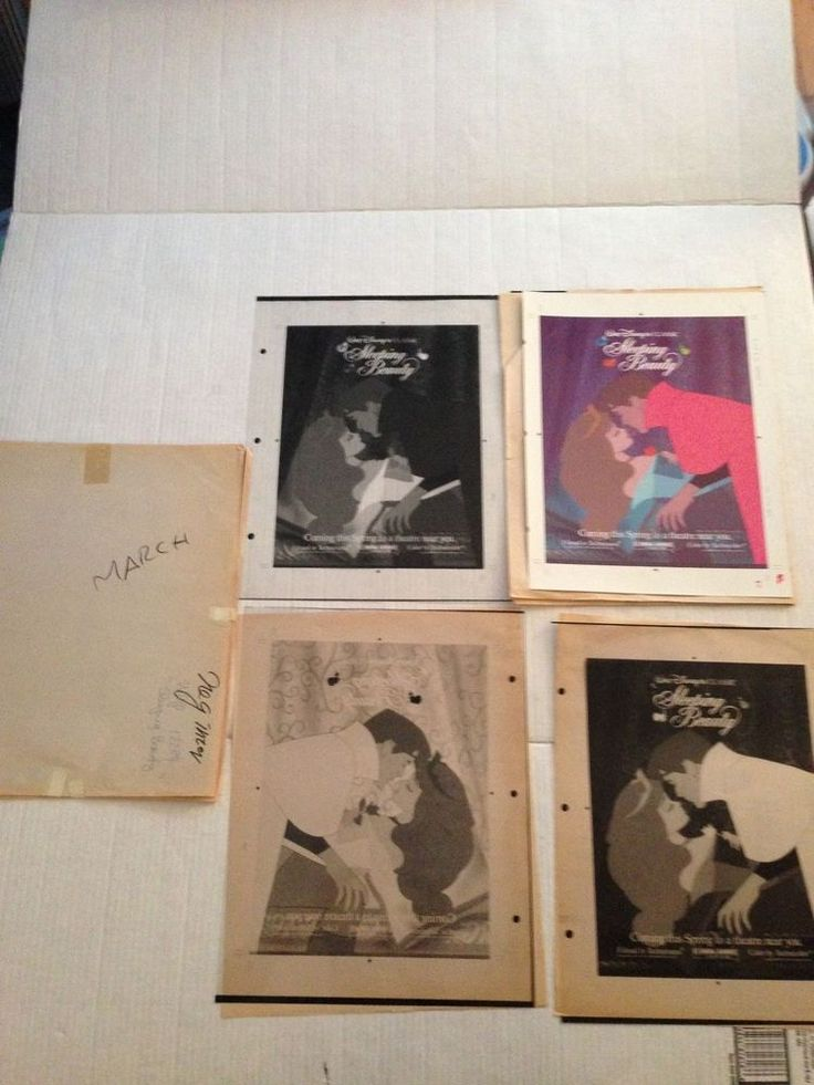 ORIGINAL SLEEPING BEAUTY PRINTER PROOF TEST SHEETS SET rare pieces RE-RELEASE