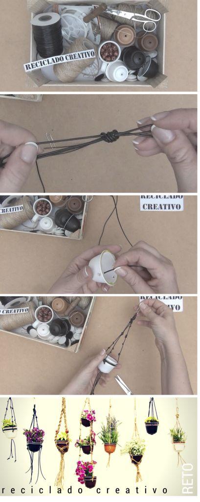 Cápsulas de café recicladas y convertidas en maceteros decorativos | Aprender manualidades es facilisimo.com
