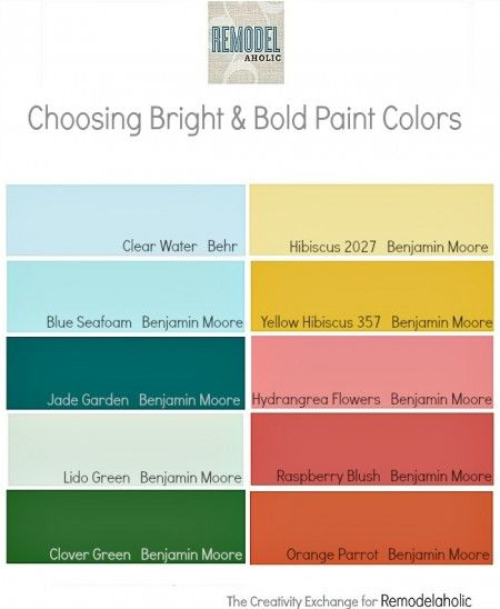 Best 25 bright paint colors ideas on pinterest pink Bold house colors