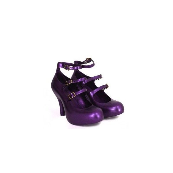 Vivienne Westwood, Melissa shoes | Death by Purple ❤ liked on Polyvore featuring shoes