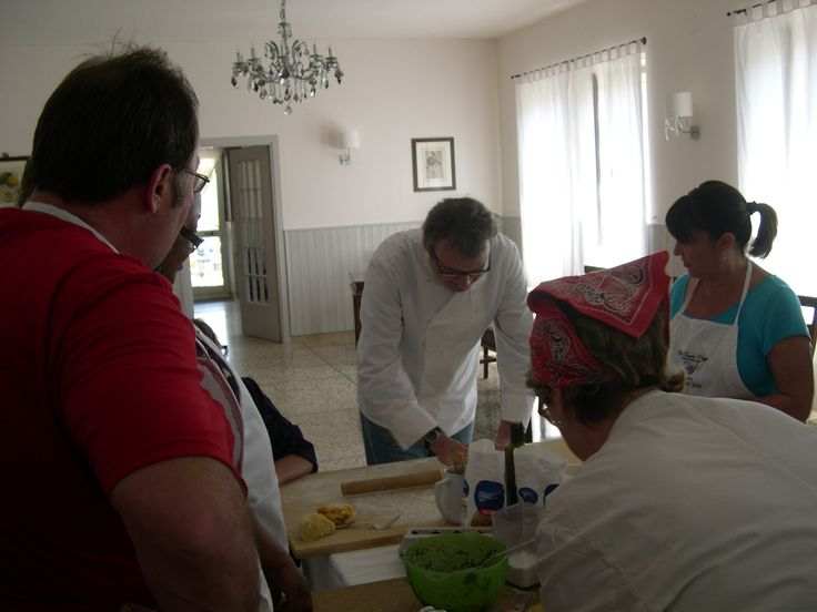 US group at tee Locanda la PIeve and cooking class