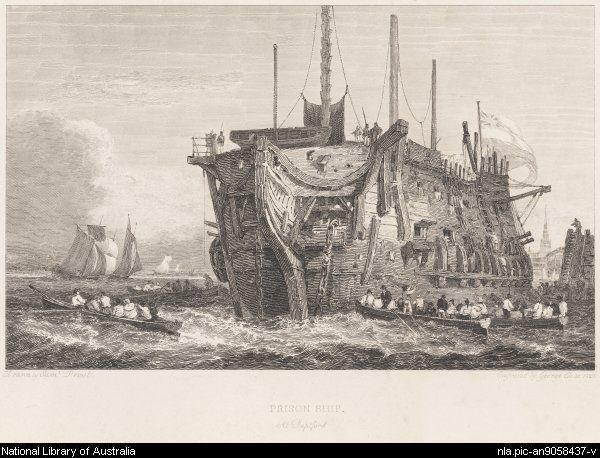 # 6 Cooke, George, 1781-1834. Prison ship at Deptford [picture]