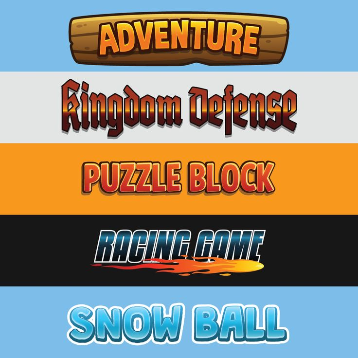 Game Title Graphic Style 01